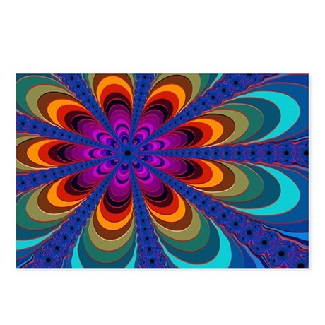 """Color 16"" Fractal Art Postcards (Package of 8)"