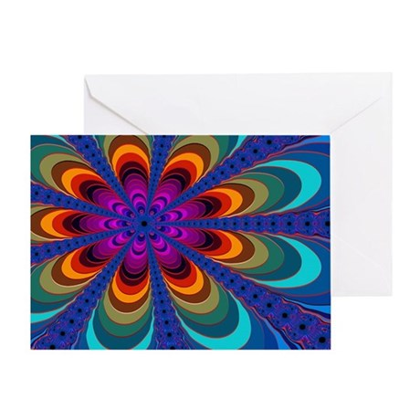 """Color 16"" Fractal Art Greeting Card"