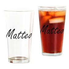 Matteo Artistic Name Design Drinking Glass