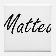 Matteo Artistic Name Design Tile Coaster