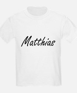 Matthias Artistic Name Design T-Shirt
