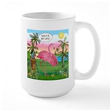 Golfing Flamingo Mug