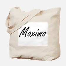 Maximo Artistic Name Design Tote Bag