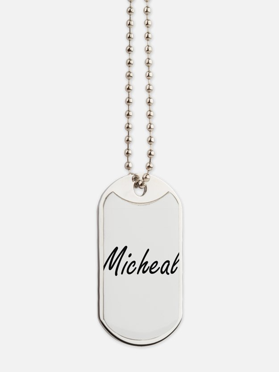 Micheal Artistic Name Design Dog Tags