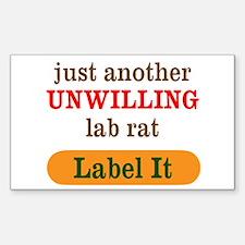 Unwilling Lab Rat Decal