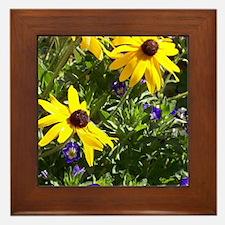 wild flower garden Framed Tile