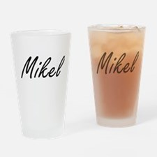 Mikel Artistic Name Design Drinking Glass
