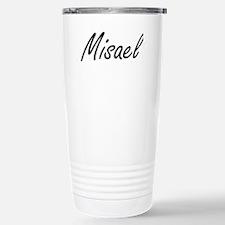 Misael Artistic Name De Stainless Steel Travel Mug
