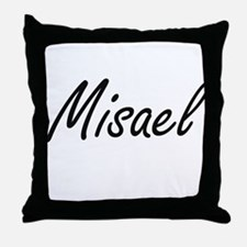 Misael Artistic Name Design Throw Pillow