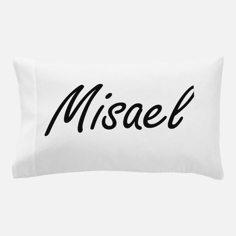 Misael Artistic Name Design Pillow Case