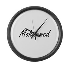 Mohammed Artistic Name Design Large Wall Clock
