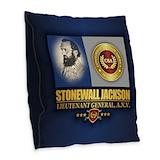 Stonewall jackson Burlap Pillows