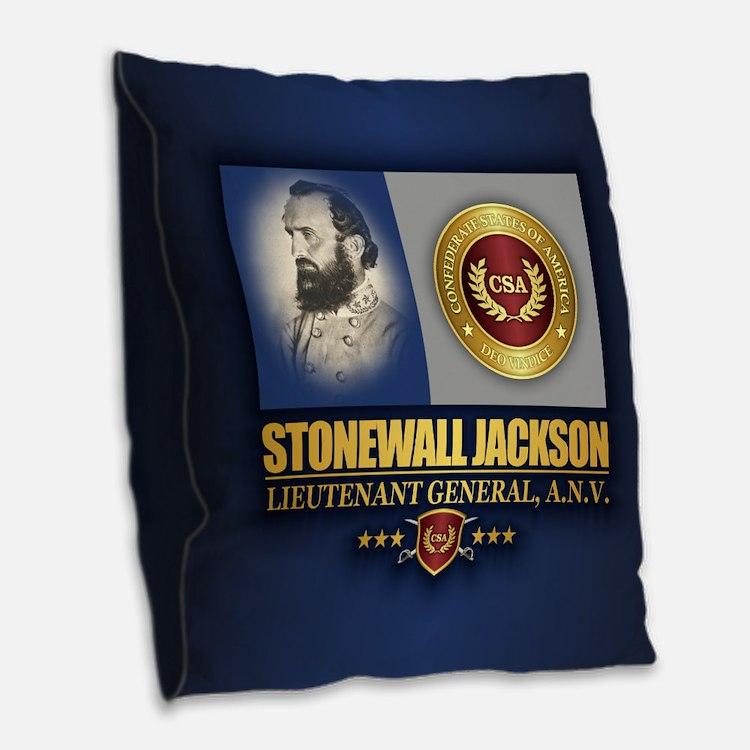 Jackson (c2) Burlap Throw Pillow