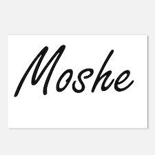 Moshe Artistic Name Desig Postcards (Package of 8)