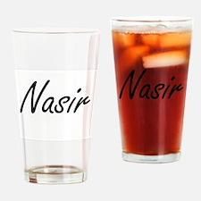 Nasir Artistic Name Design Drinking Glass