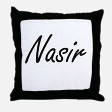 Nasir Artistic Name Design Throw Pillow