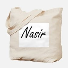 Nasir Artistic Name Design Tote Bag
