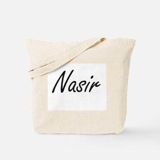 Nasir Artistic Name Design Tote Bag
