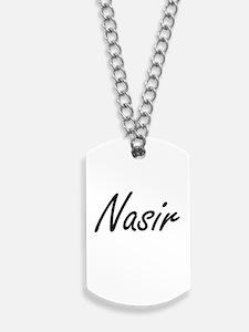 Nasir Artistic Name Design Dog Tags