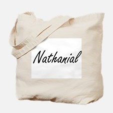 Nathanial Artistic Name Design Tote Bag