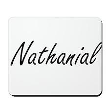 Nathanial Artistic Name Design Mousepad