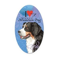 Bernese Mountain Dog Oval Car Magnet