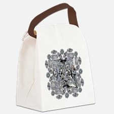 Diamond Gift Brooch Canvas Lunch Bag