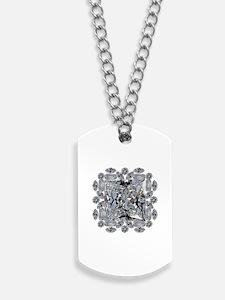 Diamond Gift Brooch Dog Tags
