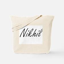 Nikhil Artistic Name Design Tote Bag
