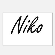 Niko Artistic Name Design Postcards (Package of 8)