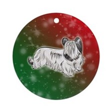 Cream Skye Terrier Ornament (round)