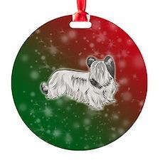 Cream Skye Terrier Ornament