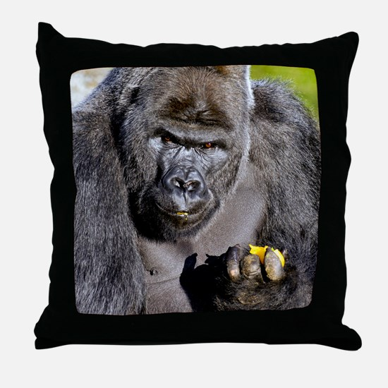 GORILLAS LUNCH Throw Pillow