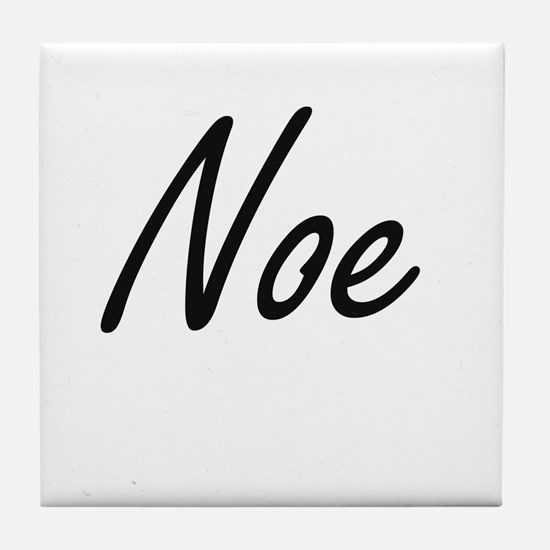Noe Artistic Name Design Tile Coaster