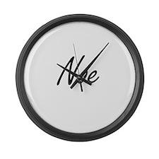 Noe Artistic Name Design Large Wall Clock