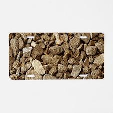Tan Rocks Aluminum License Plate