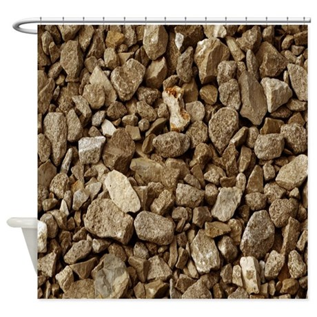 Tan Rocks Shower Curtain By Hopeshappyhome
