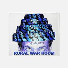 Rural War Room Devolved Throw Blanket