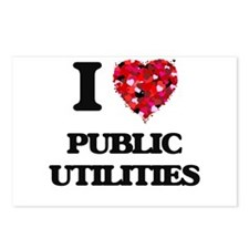 I Love Public Utilities Postcards (Package of 8)