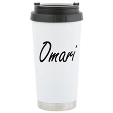 Omari Artistic Name Des Travel Mug