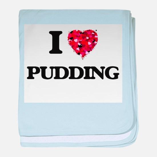 I Love Pudding baby blanket