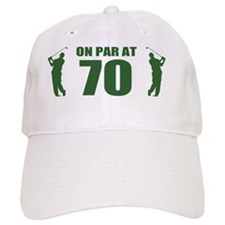 Golfer's 70th Birthday Baseball Cap