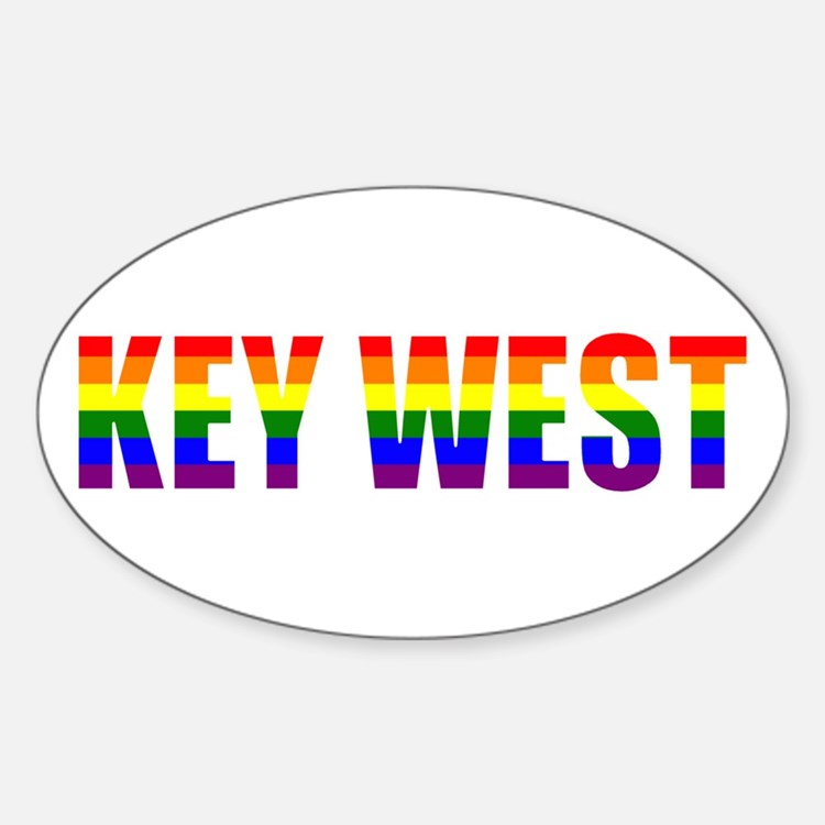 Key West Oval Decal