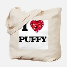 I Love Puffy Tote Bag