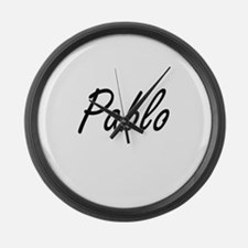 Pablo Artistic Name Design Large Wall Clock