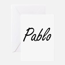 Pablo Artistic Name Design Greeting Cards