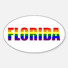 Florida Pride Oval Decal
