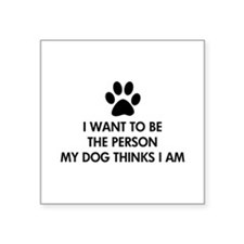 "Cute I love cattle dogs Square Sticker 3"" x 3"""