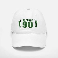 Golfer's 90th Birthday Baseball Baseball Cap