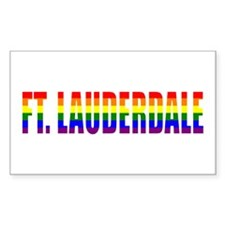 Ft. Lauderdale, Florida Rectangle Decal